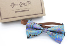 Peacock Feather Cat & Dog Bow Tie Collar