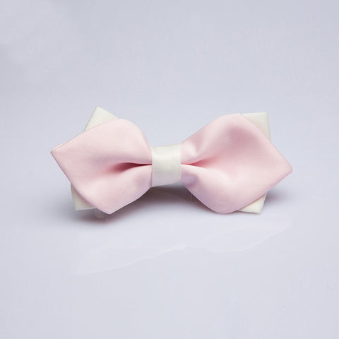 Pink & White Kids Bow Tie - Bowties - 1
