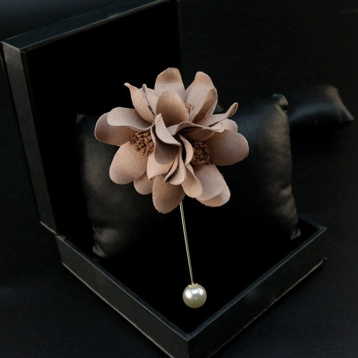 Beautiful Brown Lapel Flower - Bowties - 1