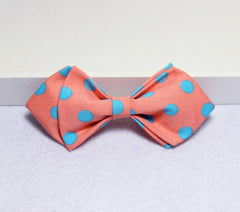 Pink Polka Dot Kids Bow Tie - Bowties - 1