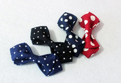 Red Big Polka Kids Bow Tie - Bowties - 2