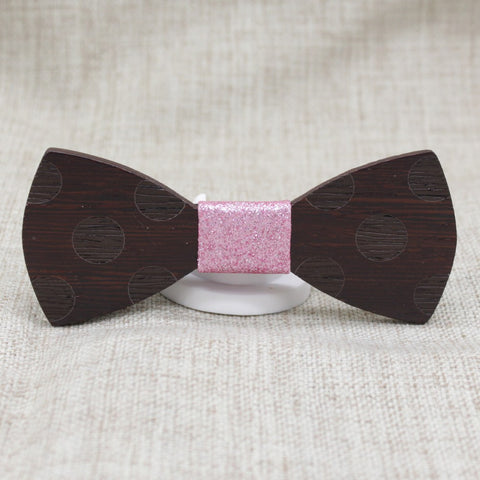 Polka Wooden Bow Tie - Bowties - 1