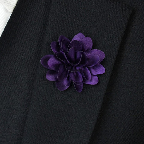 Purple Flower Lapel Pin - Bowties - 1
