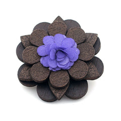Purple Wooden Lapel Pin