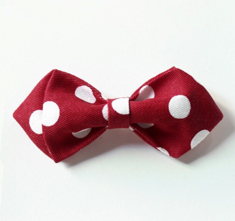 Red Big Polka Kids Bow Tie - Bowties - 1