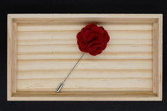 Red Flannel Lapel Pin Flower - Bowties - 3