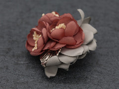 Red Lapel Flower Clip - Bowties - 3