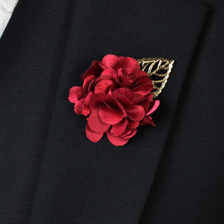 Red Flower Lapel Pin - Bowties