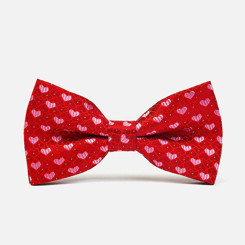 Red Hearts Polka Bowtie - Bowties