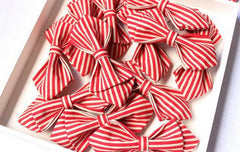 Red Striped Kids Bow Tie - Bowties - 2