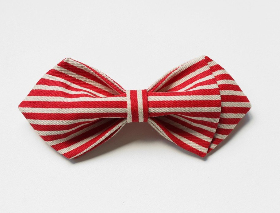Red Striped Kids Bow Tie - Bowties - 1