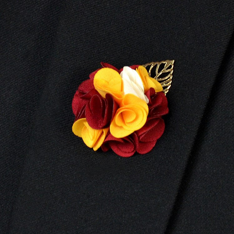 Red Yellow Lapel Flower - Bowties - 1