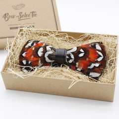 Reeves's Pheasant Feather Bow Tie