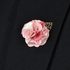 Rose Pink Lapel Flower - Bowties - 1
