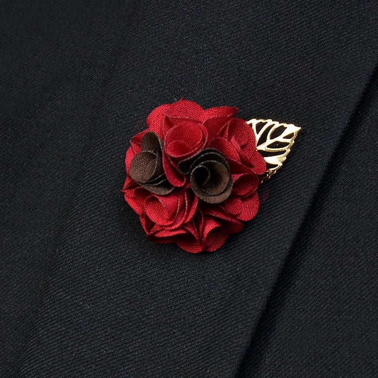 Rosy Red Lapel Flower - Bowties - 1