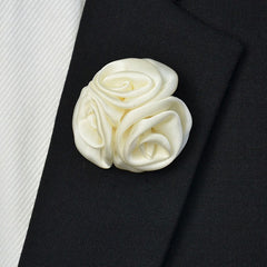 Satin Lapel Pin White - Bowties - 1