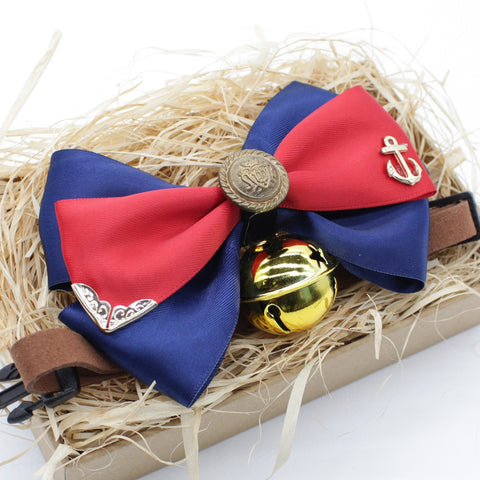 Royal Anchor Cat & Dog Bow Tie Collar