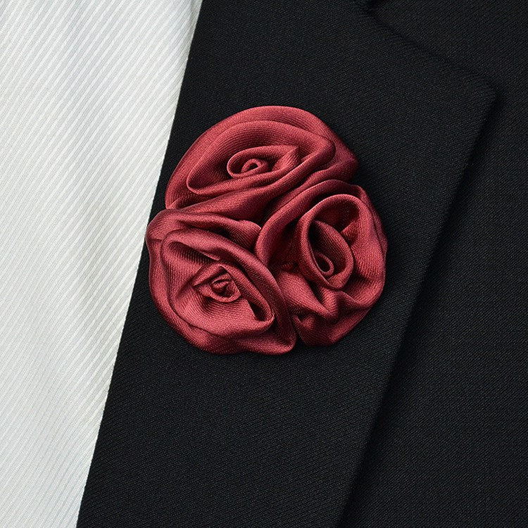 Satin Lapel Pin Ruby - Bowties - 1