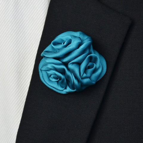 Satin Lapel Pin Silky Blue - Bowties - 1