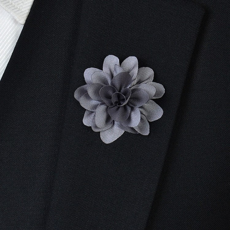Silver Flower Lapel Pin - Bowties - 1