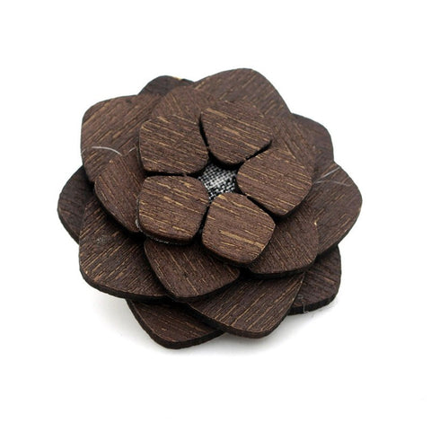 Solid Wooden Lapel Pin
