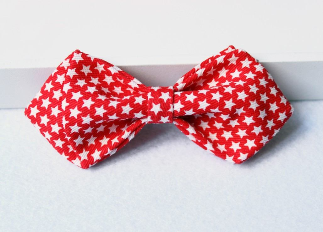 Starry Red Kids Bow Tie - Bowties - 1
