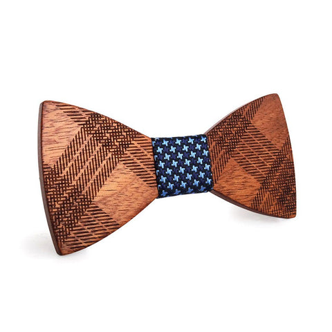 Striped Beauty Wooden Bow Tie