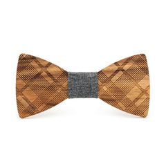 Stripes Galore Wooden Bow Tie