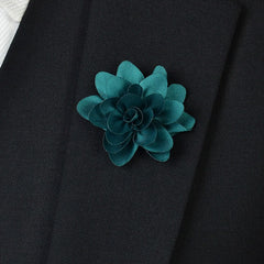 Teal Flower Lapel Pin - Bowties - 1