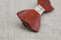 Warm Fishtail Wooden Bow Tie - Bowties - 3