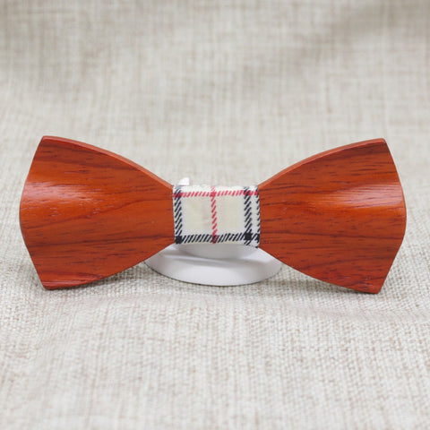 Warm Fishtail Wooden Bow Tie - Bowties - 1