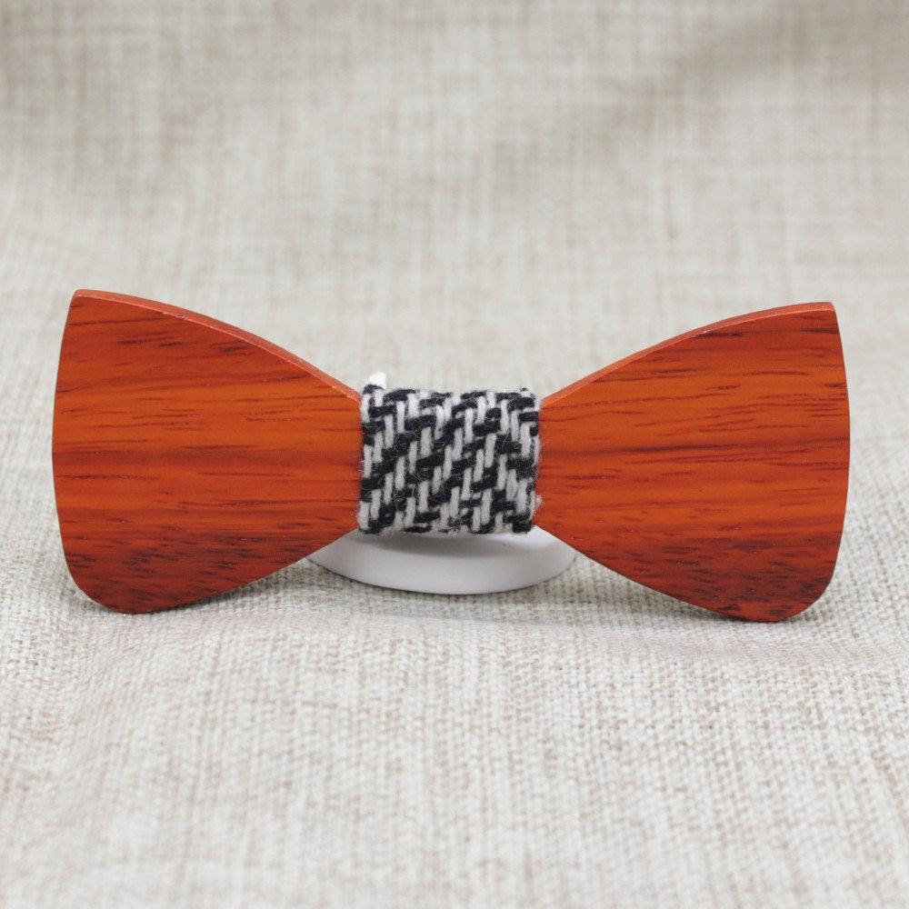 Warm Oak Wooden Bow Tie - Bowties - 1