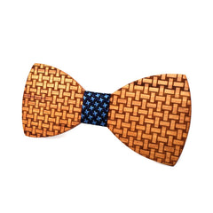 Weaved Beauty Wooden Bow Tie