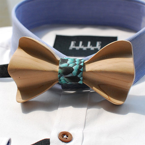 Classic Wooden Bow Tie - Bowties - 1