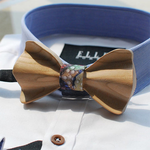 Raindrops Wooden Bow Tie - Bowties - 1