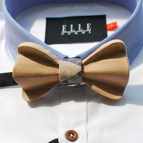 Brown Wooden Bow Tie - Bowties - 1