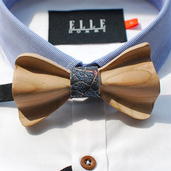 Blue Wooden Bow Tie - Bowties - 1