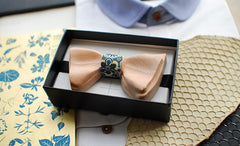 Double Wooden Bow Tie - Bowties - 2