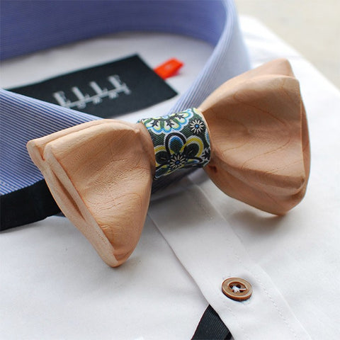 Double Wooden Bow Tie - Bowties - 1