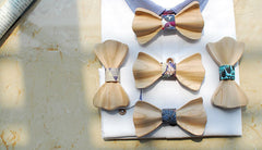 Blue Wooden Bow Tie - Bowties - 3