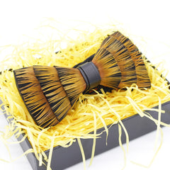 Yellow Feather Bow Tie - Bowties - 1