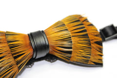 Yellow Feather Bow Tie - Bowties - 2