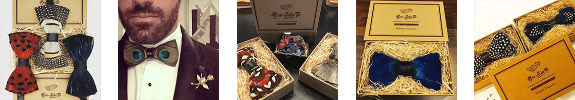 Feather Bow Ties Monthly Subscription Club