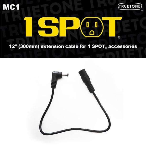 "Industrie Music,Truetone 1 Spot MC1 - 12"" Ang-Str DC Extension Cable"