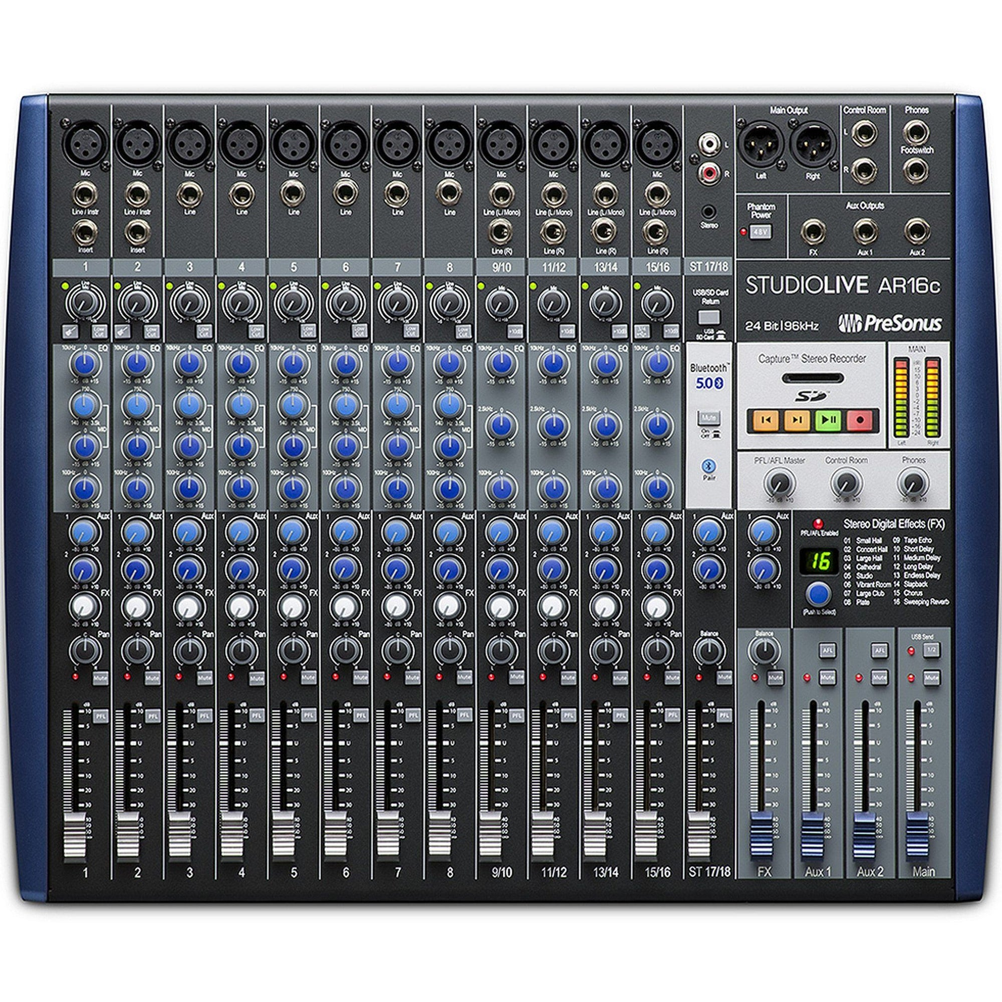 PreSonus StudioLive AR16c Mixer and Audio Interface with Effects
