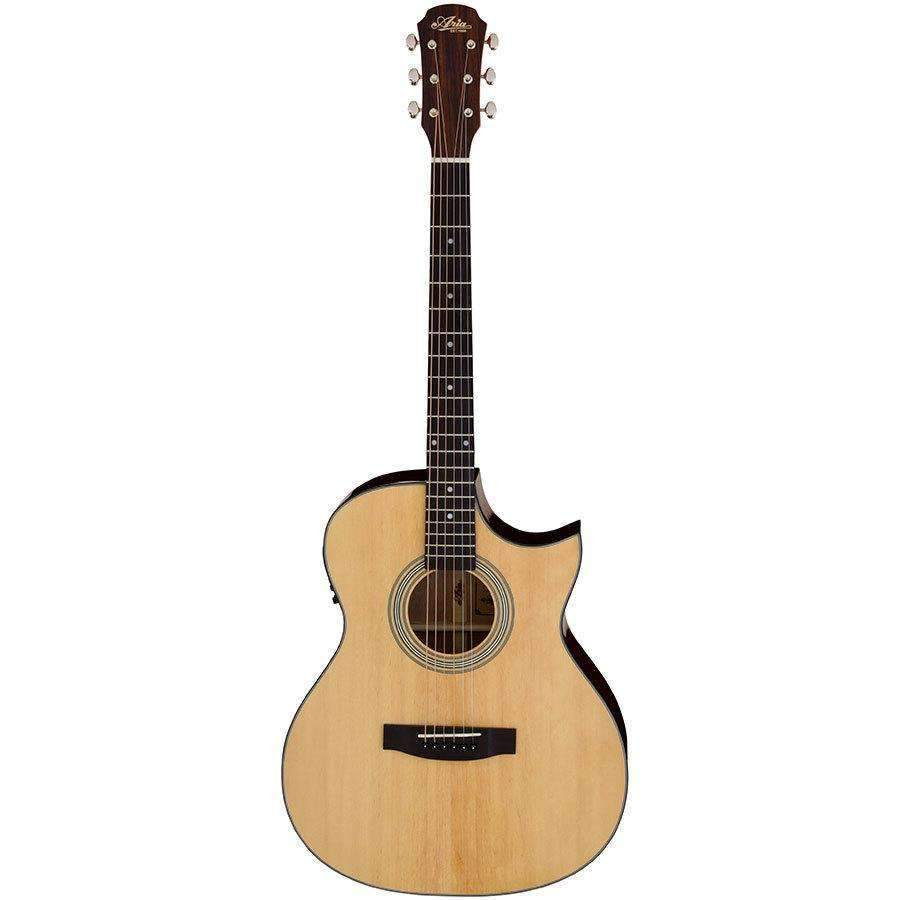Industrie Music,Aria 205 Series Orchestral AC/EL Guitar with Venetian Cutaway in Natural