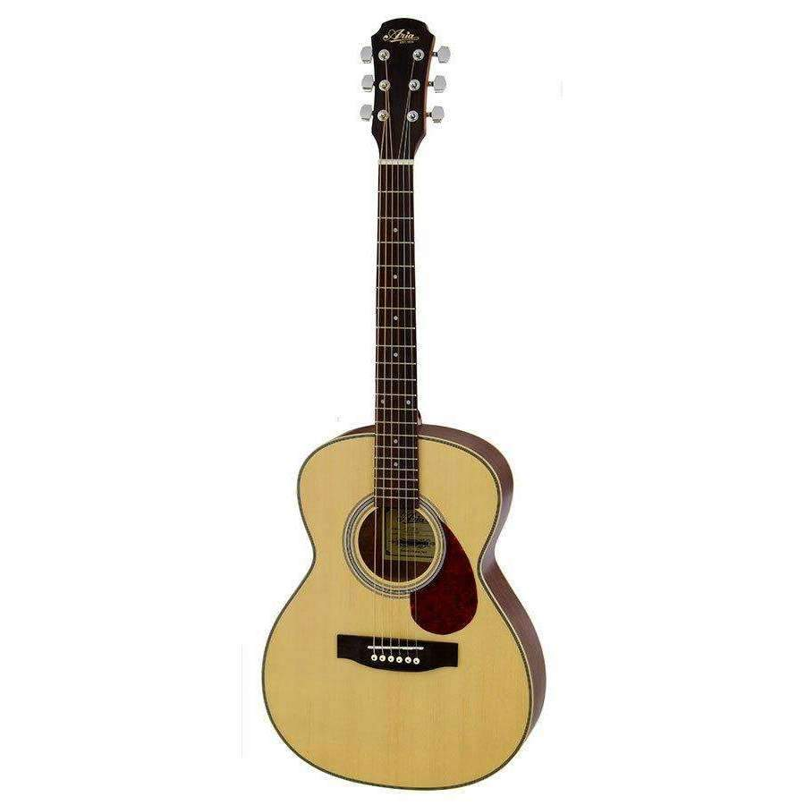 Aria ADF-20 Series Steel String Travel Guitar in Natural 6-string Acoustic Guitars Aria