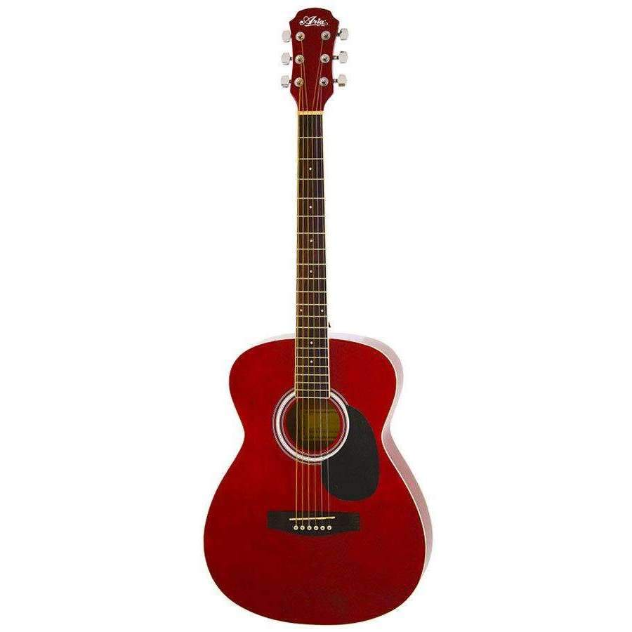 Industrie Music,Aria AF-15 Folk Body Acoustic Guitar in Metallic Candy Apple Red