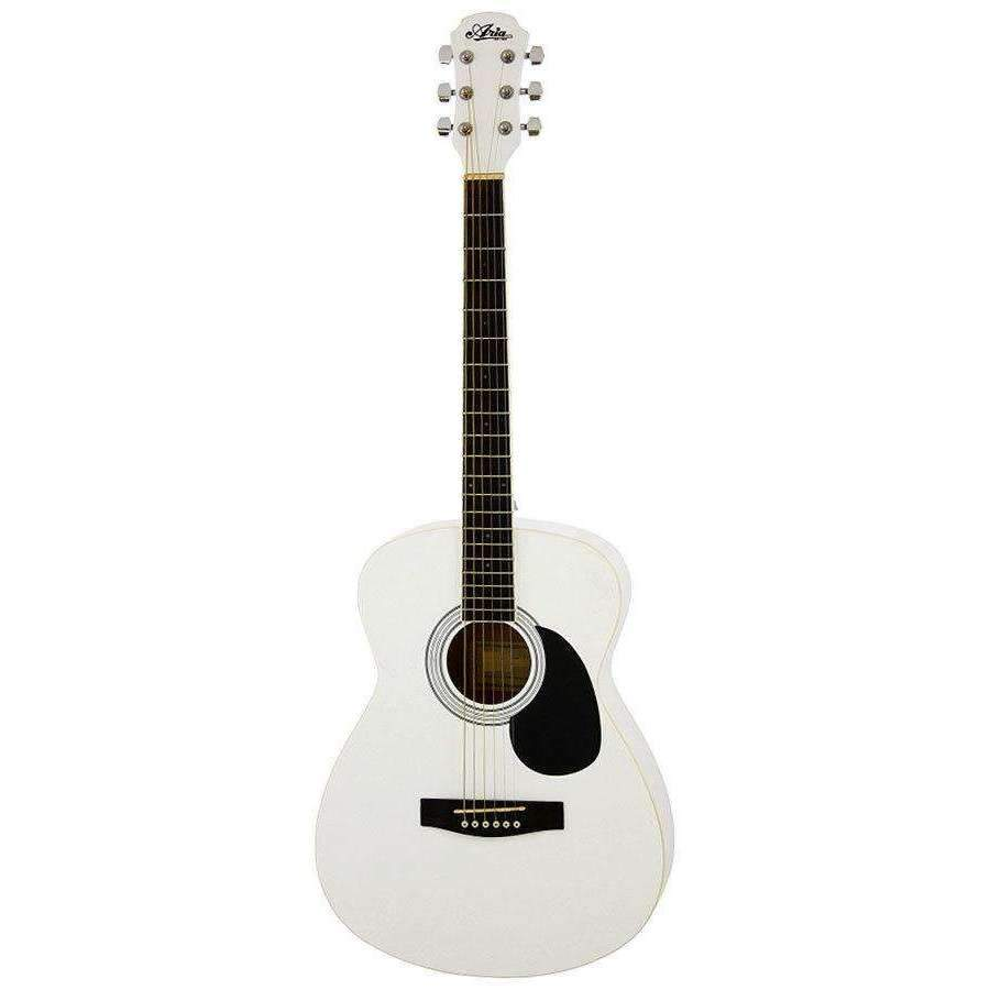 Industrie Music,Aria AF-15 Folk Body Acoustic Guitar in White Pearl