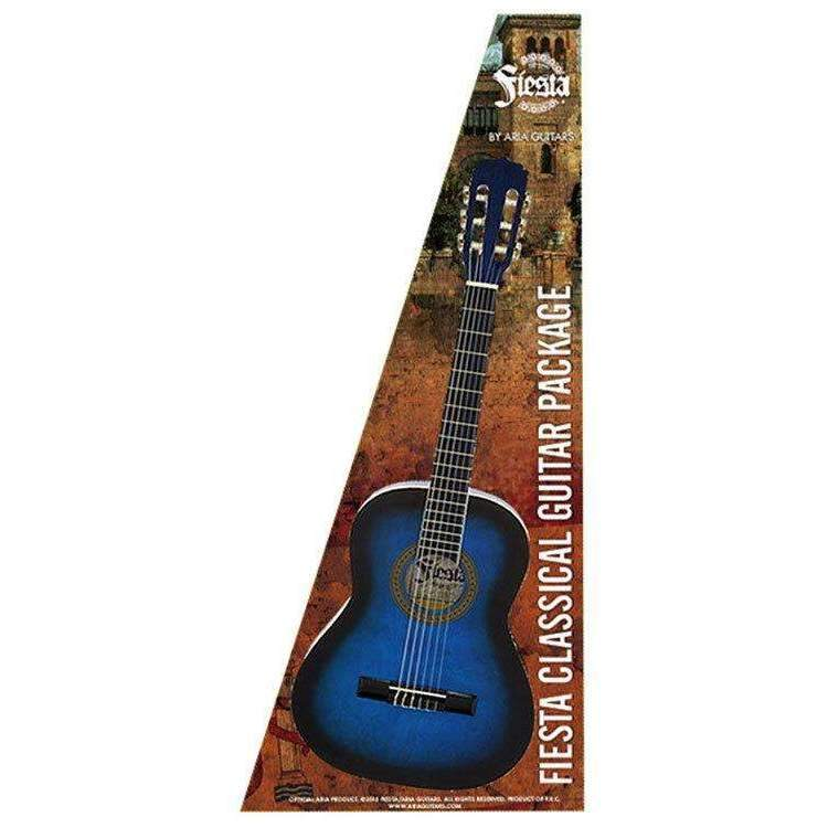 Industrie Music,Aria Fiesta 4/4-Size Classical/Nylon String Guitar Pack in Blue Shade